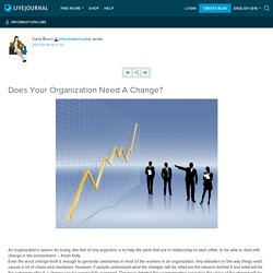 Does Your Organization Need A Change?: informationcube