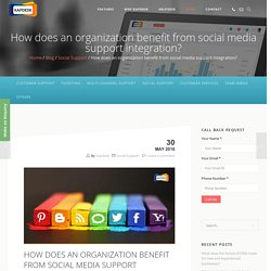 How does an organization benefit from social media support integration? - Kapdesk