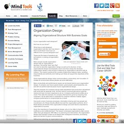 Organization Design - Project Management Tools from MindTools.com