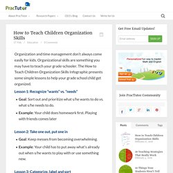 How to Teach Children Organization Skills - Practutor Blog