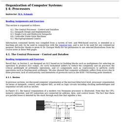 Organization of Computer Systems: Processor & Datapath