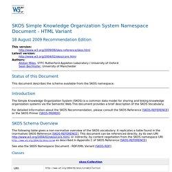 SKOS Simple Knowledge Organization System Namespace