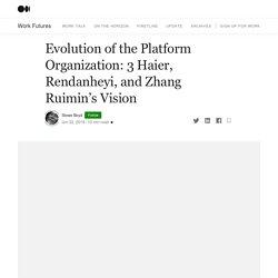 Evolution of the Platform Organization: 3 Haier, Rendanheyi, and Zhang Ruimin's Vision