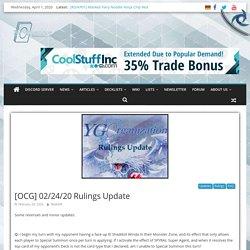 [OCG] 02/24/20 Rulings Update