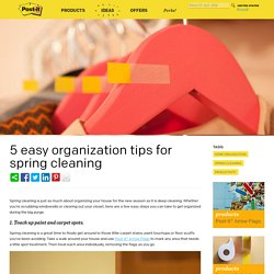 5 easy organization tips for spring cleaning