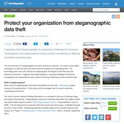 Protect your organization from steganographic data theft