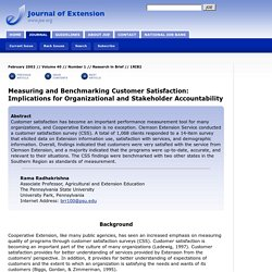 Measuring and Benchmarking Customer Satisfaction: Implications for Organizational and Stakeholder Accountability