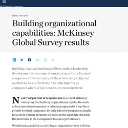 Building organizational capabilities: McKinsey Global Survey results