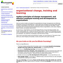 modern principles of organizational change management and employee training and development