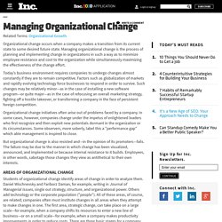 Managing Organizational Change - Encyclopedia - Business Terms