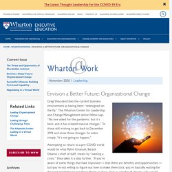Envision a Better Future: Organizational Change