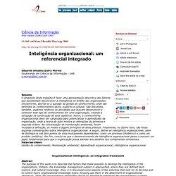 Ciência da Informação - Organizational intelligence: an integrated framework