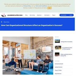 How Can Organizational Structure Affect an Organization's Success?