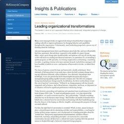 Leading organizational transformations