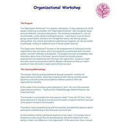Organizational Workshop