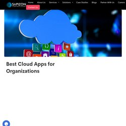 Best Cloud Apps for Organizations