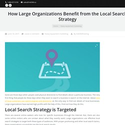 Benefit Of Local Search Strategy