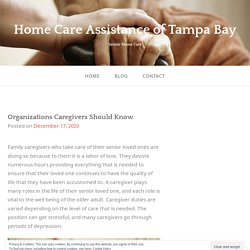Organizations Caregivers Should Know