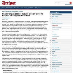 Charity Organizations In Lake County Collects Funds And Supports Poor Kids