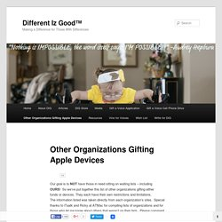 Other Organizations Gifting Apple Devices