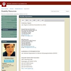 Organizations - Disability Resources - LibGuides at Indiana University