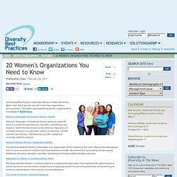 20 Women's Organizations You Need to Know