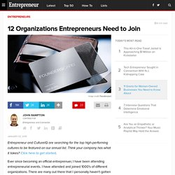 12 Organizations Entrepreneurs Need to Join