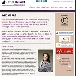 About - Social Impact Architects - Solutions for NonProfit Organizations, Foundations, Government & Socially-Minded Businesses