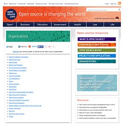Organisations & Outils pour l'OpenSource