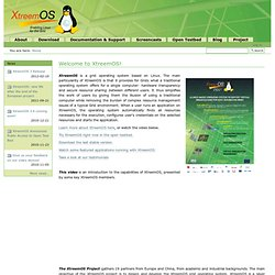 Welcome to XtreemOS! — XtreemOS : A Linux-based Operating System to support Virtual Organizations for next generation Grids