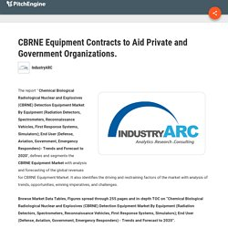 CBRNE Equipment Contracts to Aid Private and Government Organizations. : IndustryARC