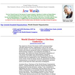 Organizations - World Zionist Organization