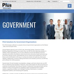 Government Organizations - Print Spooling Software