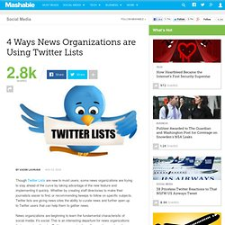 4 Ways News Organizations are Using Twitter Lists