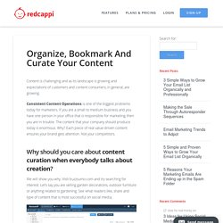 Organize, Bookmark And Curate Your Content - Red Cappi