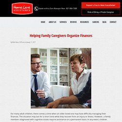 How to Organize Family Caregiver Finances