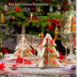 Organize Christmas Party at Red Salt Cuisine Restaurant, WSM
