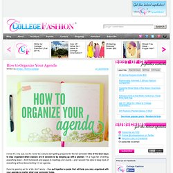 How to Organize Your Agenda