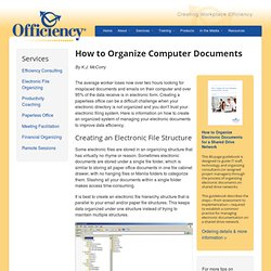 How to Organize Your Computer Documents / Creating a paperless office