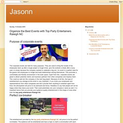 Jasonn: Organize the Best Events with Top Party Entertainers Raleigh NC