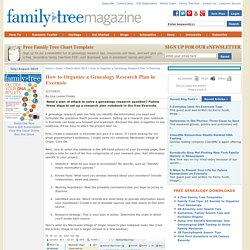 Organize a Genealogy Research Plan in Evernote - Family Tree Magazine