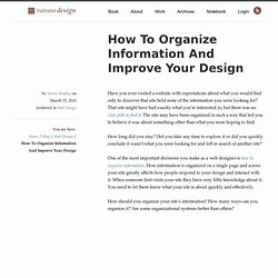 How To Organize Information And Improve Your Design