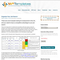 Organize your job searching using W5T