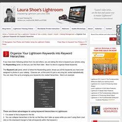Organize Your Lightroom Keywords into Keyword Hierarchies