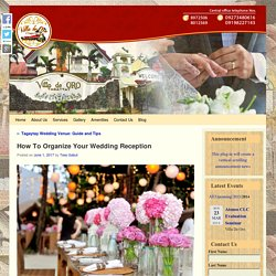 How To Organize Your Wedding Reception