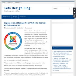 Organize and Manage Your Website Content With Joomla CMS