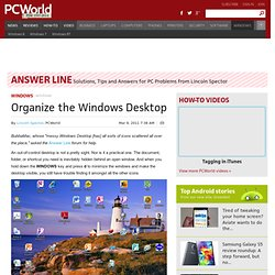 Organize the Windows Desktop - PCWorld