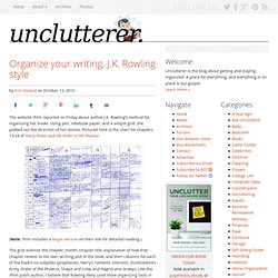 Organize your writing, J.K. Rowling style