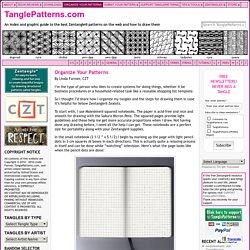 Grilles sur quadrillé pour organiser ses Zentangle [TanglePatterns.com (membre)]