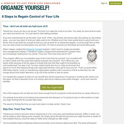 Organize Yourself - An Easy-To-Use Service to Organize Your Life
